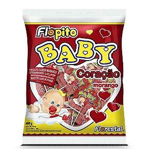 Pirulito Baby Coração Morango Forestal 200g