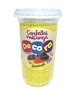Confeito Decora Amarelo Cacau Foods 260g