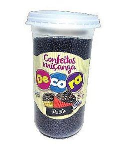 Confeito Decora Preto Cacau Foods 260g