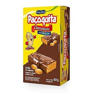 Doce Paçoquita c/ cobertura Chocolate  Santa Helena 432g