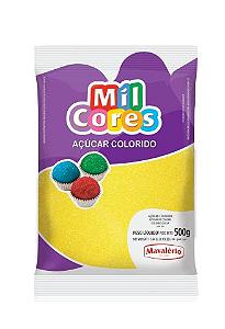 Açúcar Colorido Amarelo Mil Cores 500g