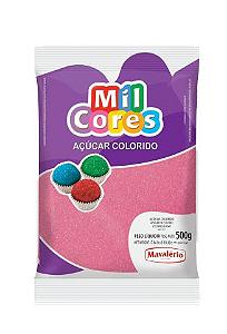 Açúcar Colorido Rosa Mil Cores 500g
