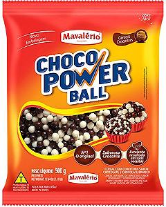 Chocolate Choco Power Ball Mini Chocolate e Chocolate Branco Mavalério 500g