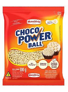 Choco Power Ball Micro Chocolate Branco Mavalério 300g