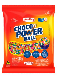 Choco Power Ball Micro Colorido Mavalério 300g