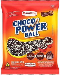 Choco power Micro Chocolate e Chocolate Branco Mavalério 500g