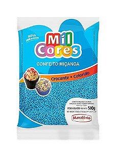 Confeito Miçanga Azul n 0 Mil Cores 500g