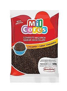 Confeito Miçanga Chocolate n 0 Mil Cores 500g