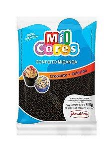 Confeito Miçanga n 0 Preta Mil Cores 500g