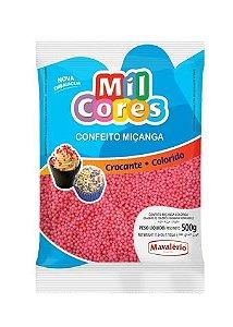 Confeito Miçanga Rosa n 0 Mil Cores 500g
