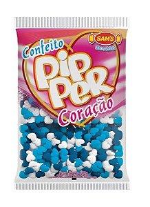 Confeito Pipper Coração Azul e Branco SAMS 500G