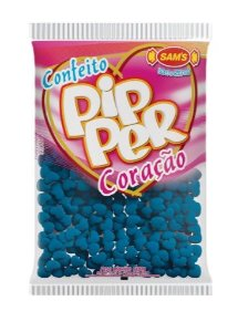 Confeito Pipper Coração Azul Escuro SAMS 500G