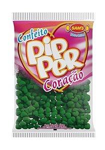 Confeito Pipper Coração Verde SAMS 500G