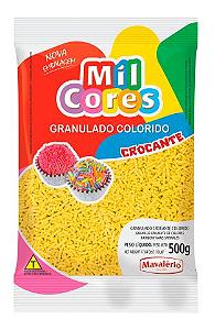 Granulado Crocante Amarelo Mil Cores 500g