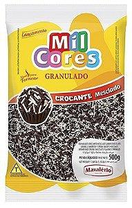 Granulado Crocante Chocolate Mesclado Mil Cores 500g