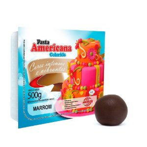 Pasta Americana Marrom Arcolor 500g
