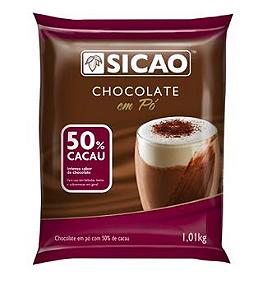 Chocolate em pó 50% cacau Sicao 1,01kg