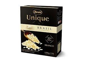 Chocolate Unique Brasil 35% Branco Gotas Harald 1,05kg