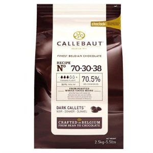 Chocolate Meio Amargo 70% Cacau Gotas Callebaut 2,5kg