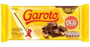 Chocolate Tablete Ao Leite Caju  Garoto 90g