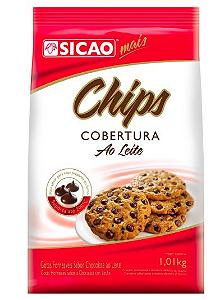 Chips Mais Cobertura Ao Leite Sicao 1,01kg
