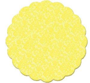 Cromus Tapetinho Amarelo 9cm c/100unid