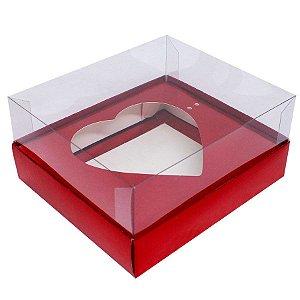 Caixa Coração Vermelho Decora 500g c/ 5unid