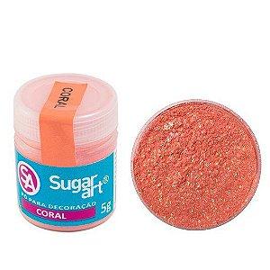 Pó Sugar Art Decoração Coral 3g