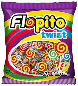 Pirulito Flopito Twist Amarelo/Vermelho Florestal 450g