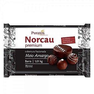 Cobertura Meio Amargo Norcau Premium Barra 1,01kg