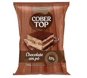 Chocolate em pó 50% Cacau Cober Top 1kg