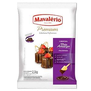 Cobertura Premium Meio Amargo Mavalério 2,1kg - Validade 31/01