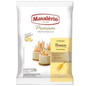 Cobertura Premium Chocolate Branco em gotas Mavalério 2,1kg