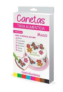 Caneta Decorativa Mago Ponta Fina 8 unid