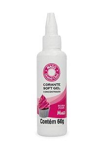 Corante Sof Gel Rosa Pink Mago 60g
