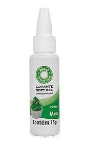 Corante Sof Gel Verde Folha Mago 15g