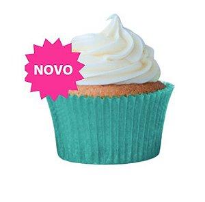 Forminha Cupcake Azul Turquesa Nº0 c/ 45 unid