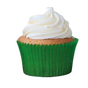 Forminha Cupcake Verde Bandeira Nº0 c/ 45 unid