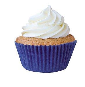 Forma Mini Cup Cake Azul Royal Nº 02 Mago c/ 45 unid