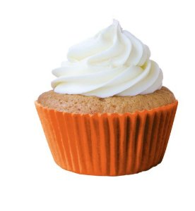 Forma Mini Cup Cake Laranja Nº 02 Mago c/ 45 unid