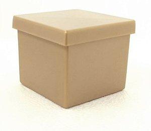 Caixinha Dourada Aquarela 5x5cm 10 unid