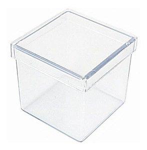 Caixinha Transparente Aquarela 5x5cm 10 unid