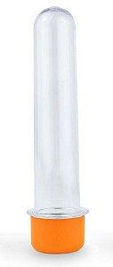 Tubetes Tampa Laranja Aquarela 13cm 10 unid
