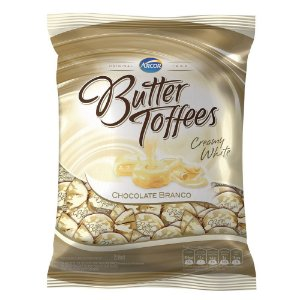 Bala Butter Toffes Chocolate Branco 600G