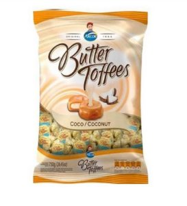 ARCOR BALA BUTTER TOFFEES COCO 600G