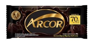 Chocolate Amargo 70% Arcor 80g