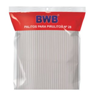 Palitos para Pirulito Médio Cristal Nº28 c/50 unid BWB