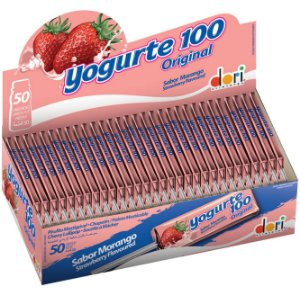 Pirulito Frutsy Mastigável Yogurte Dori 50 unid
