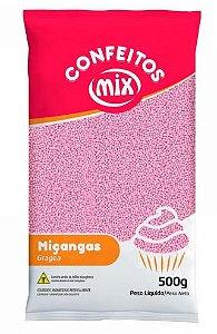 Confeito de Miçanga Rosa MIX 500g