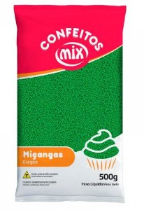 Confeito de Miçanga Verde MIX 500g